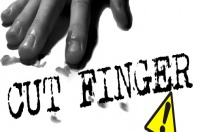 Logo cut finger
